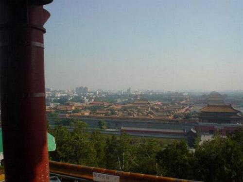景山から見た故宮